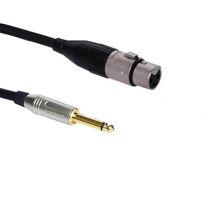 Кабель XLR female - Jack 6.3 mm mono Amphenol 2м 2. XLR female - Jack 6.3 mm mono