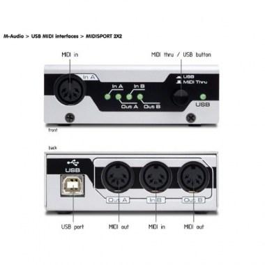 M-Audio MidiSport 2x2 USB, цена, купить, заказать, доставка по россии