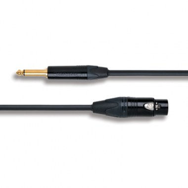Кабель XLR female - Jack 6.3 mm mono Neutrik Gold 1m 2. XLR female - Jack 6.3 mm mono