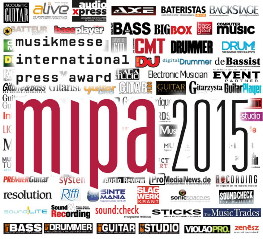 MIPA 2015 - победители Musikmesse International Press Award!!!
